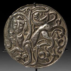 Islamic Silver Human-Headed Lion Mount