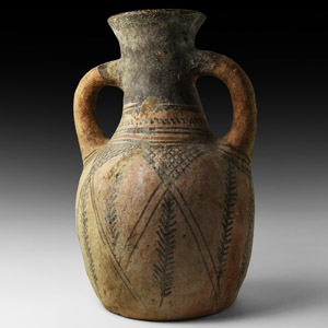 Painted Whiteware Amphora