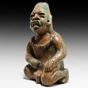 Olmec Jadeite Kneeling Figure