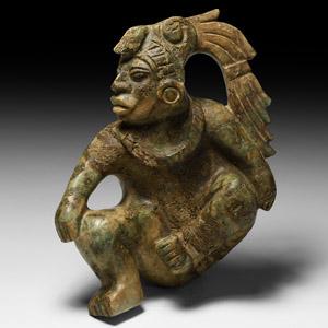Mayan Jadeite Pelota-Player Figure