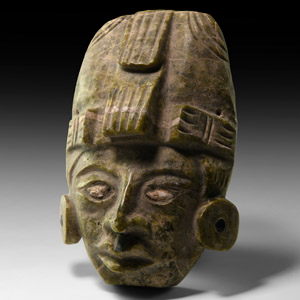 Mesoamerican Zapotec Inlaid Mask