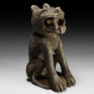 Mesoamerican Seated Jaguar Figurine