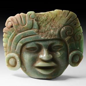 Zapotec Jadeite Mask