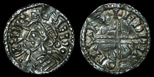 British Anglo-Saxon - Edward the Confessor - Small Flan Penny - London - Edpine