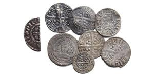 Henry II to Edward III - Pennies and Halfgroat [8]