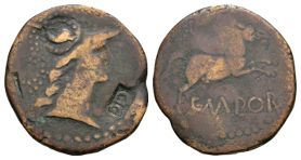 Roman Provincial Coins - Augustus - Spain - Countermarked Bronze