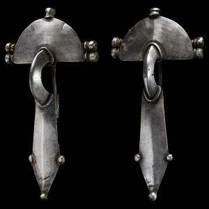 Visigothic Silver Brooch Pair