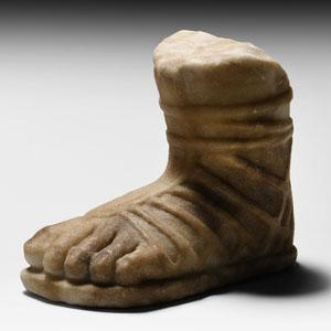 Marble Sandalled Foot