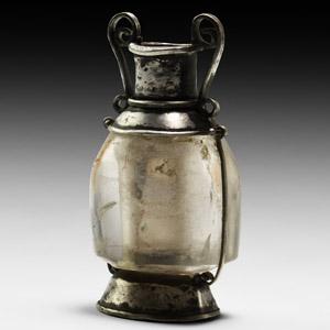 Silver and Rock Crystal Perfume Amphora