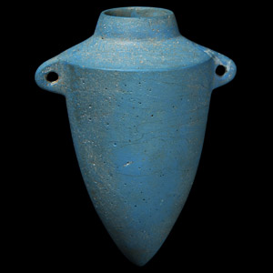 Egyptian Blue Faience Vessel