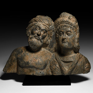 Conjoined Busts of Hariti and Panchica