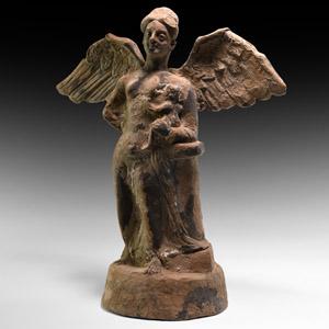 Winged Tanagra Figure