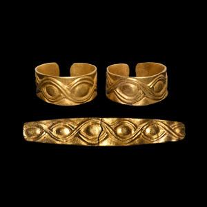Gold Hair Ring Group