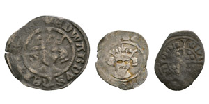 Edward I and Later - Long Cross Penny, Halfpenny and Farthing