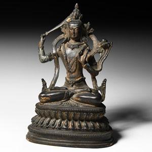 Sino-Tibetan Gilt Buddha Figurine