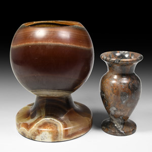 Carved Agate Vessel Group