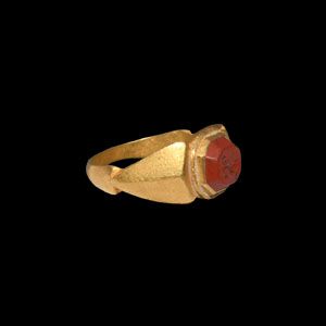 Dolphin Gemstone in Gold Ring