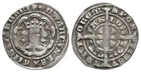 Edward III - London - Pre Treaty Halfgroat