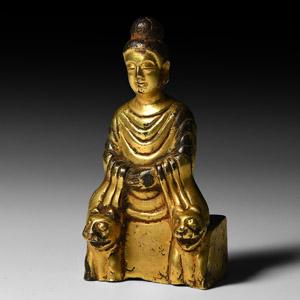 Wei Shakyamuni Buddha on Lion Throne