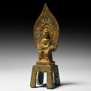 Wei Gilt Shakyamuni Buddha in Meditation