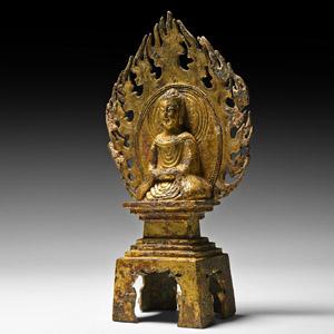 Wei Gilt Shakyamuni Buddha in Flaming Aureole