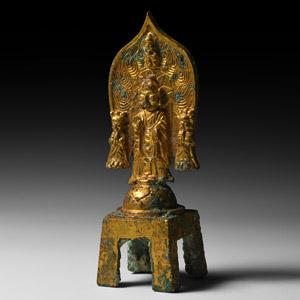 Yan Gilt Buddha with Attendants