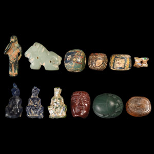 Egyptian Amulet and Bead Collection