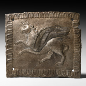 Silver Plaque with Gryphon
