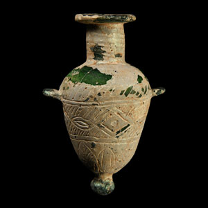 Green Glass Amphoriskos