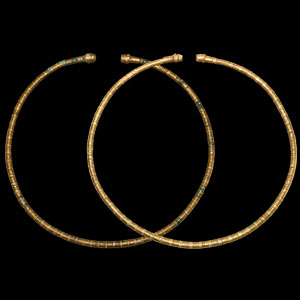 Gold Clad Torc Pair