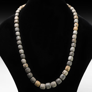 Natural History Mammoth Bead Necklace