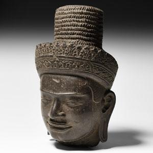 South East Asian Vishnu Statue Head