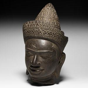 South East Asian Vajradhara Statue Head