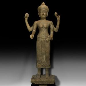 Large South East Asian Standing Lakshmi Statue
