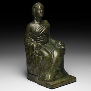 Statuette of Cybele Seated with Lion