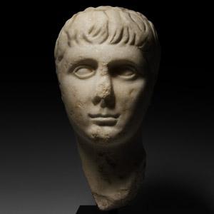 Roman Marble Head of Gaius Caesar