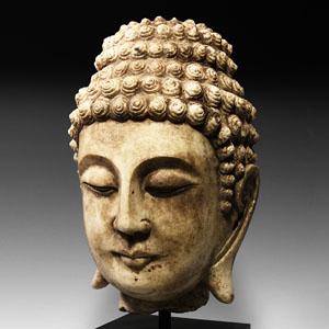 Tang Marble Head of Buddha