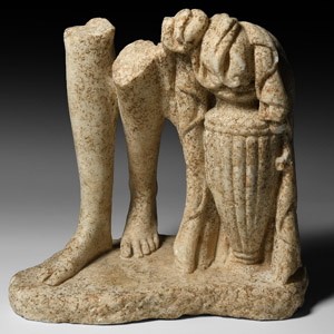 Marble Feet with Amphora