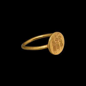 Gold Wedding Ring with Marriage of David