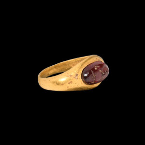 Gold Ring with Ram Gemstone