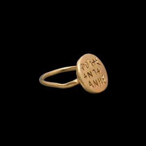 Gold Ring with Inscription
