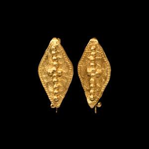 Gold Brooch Pair
