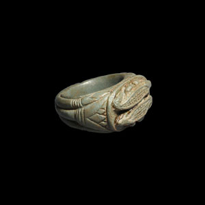 Steatite Ring with Crocodiles