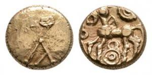 Celtic Iron Age Coins - Atrebates and Regni - Commius - Gold A Type Quarter Stater