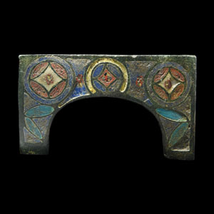Medieval Enamelled Arch Fitting