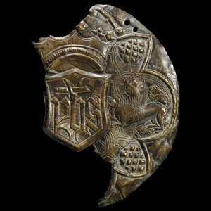 Medieval Paten Section with Lion