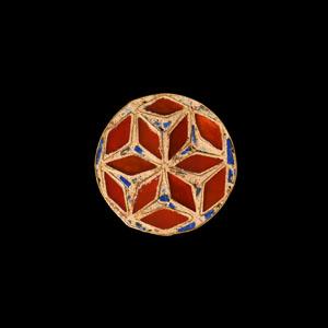 Germanic Gold Attachment with Gemstone Star