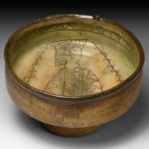 Byzantine Sgraffito Bowl with Figure