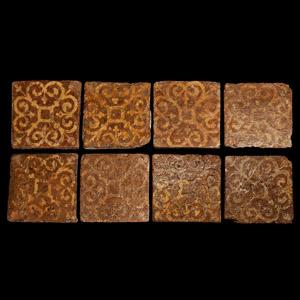 Medieval English Elaborate Floor Tile Set