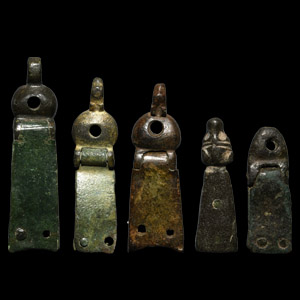 Medieval Strap End Group